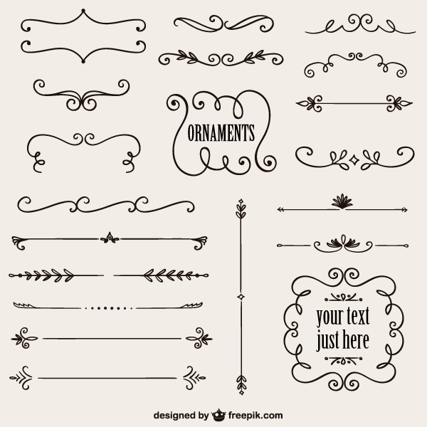 Free Vintage Calligraphy Border Design Vector Graphics More 123freevectors