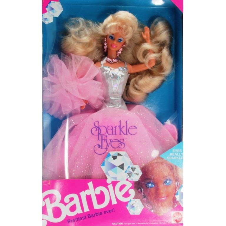 sparkle eyes barbie 1991 in 2020 barbie sparkle mattel barbie pinterest