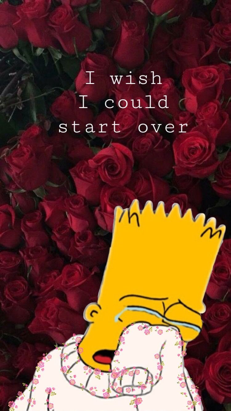 aesthetic wallpaper bart simpson Heartbreak wallpaper