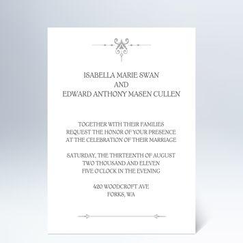 Custom Twilight Wedding Invitations from Hallmark definitely