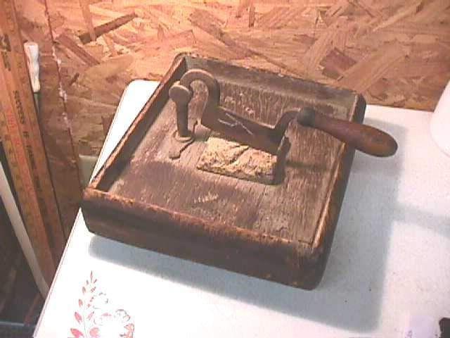 Antique Handmade Wood Plug Tobacco Cutter   eBay