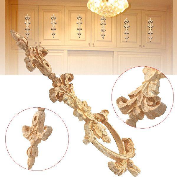 25x6cm de madera tallada onlay aplicación carpintero marco de ...