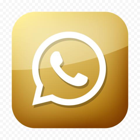 Hd Premium Golden Square Whatsapp Icon Png Icon Png Square