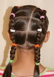 head lice prevention  keep long hair tied up in ponytails