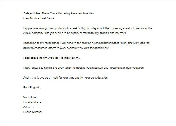 Sample Email To Recruiter