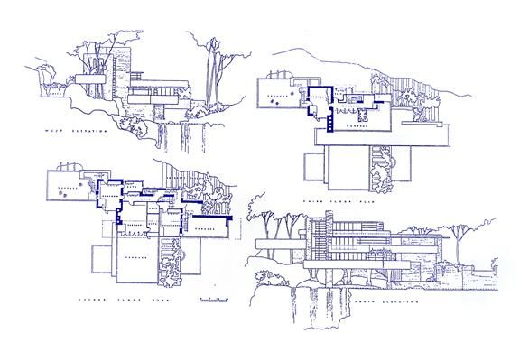 Frank Lloyd Wright Falling Water Blueprint