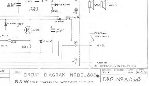B 802   Bowers  U0026 Wilkins   Crossover Schematic 100 Per