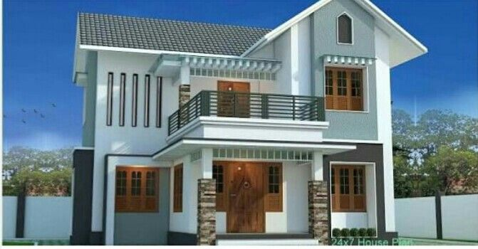 Pin By Albert P J On Home House Balcony Design Kerala House Design Modern Small House Design