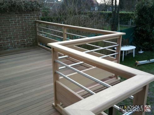 r sultat de recherche d 39 images pour rambarde bois terrasse exterieur terrasse en bois. Black Bedroom Furniture Sets. Home Design Ideas