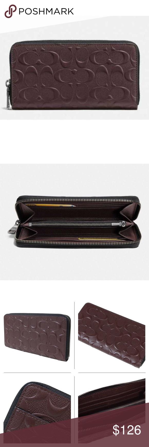 huge discount 790c0 56a1e Coach F58113 Men's Signature Accordion Wallet item ...