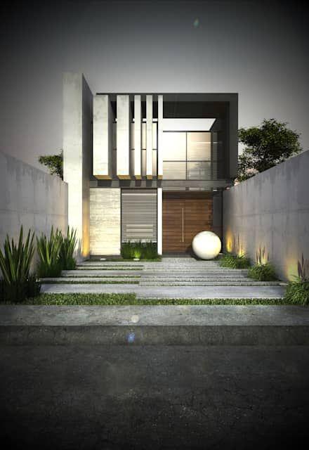 Casas ideas arquitectura e im genes en 2019 fachadas for Viviendas estilo minimalista