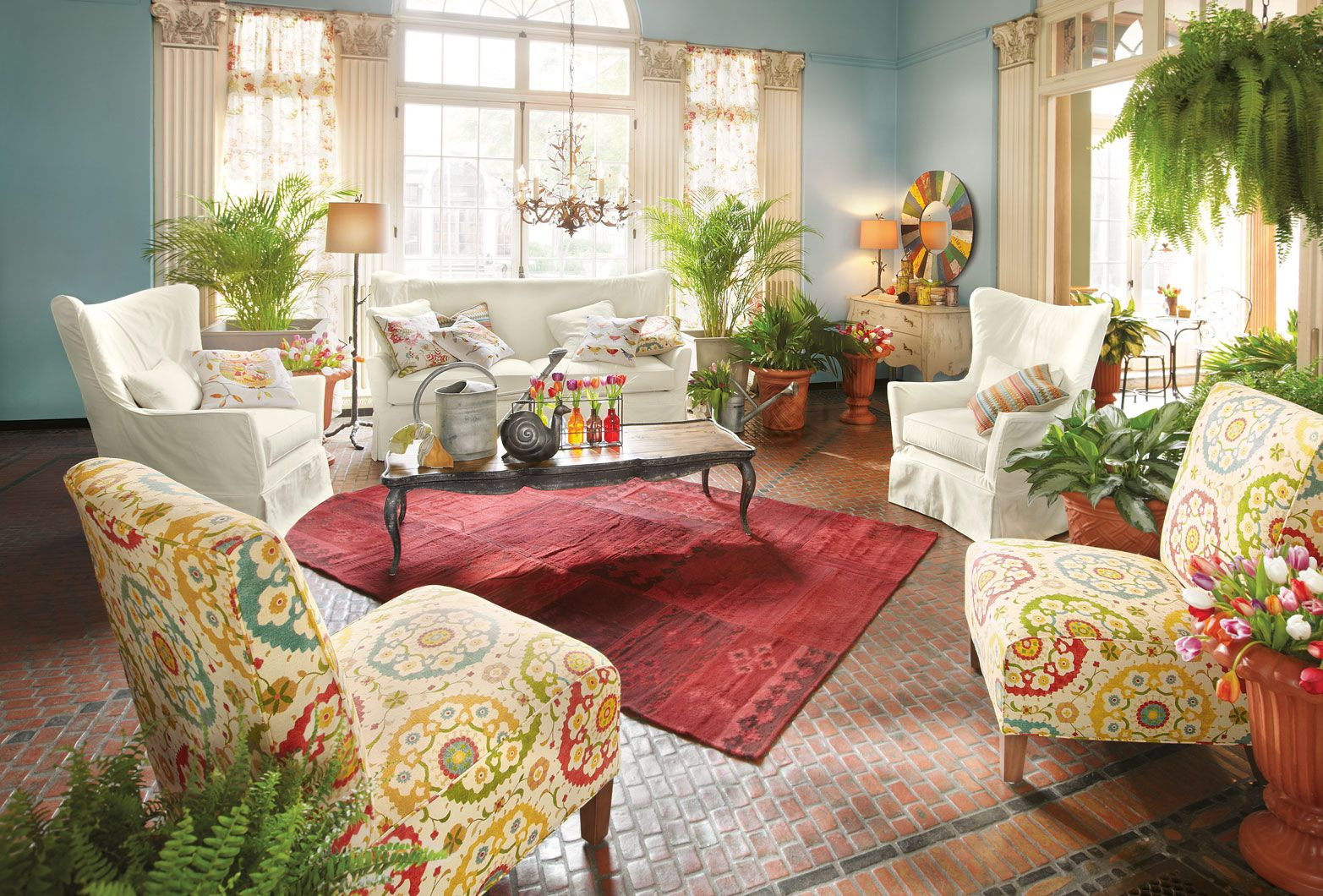 Pretty color filled room by Arhaus