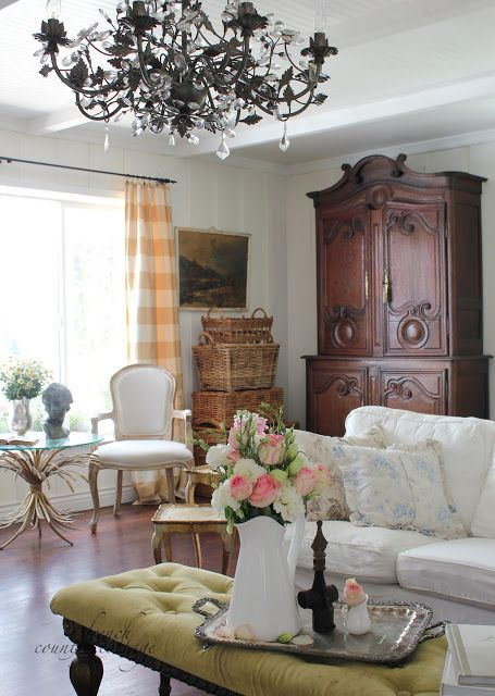 The Difference Between A Look And A Theme Tidbits Twine French Country Living Room Country Living Room Design Living Room Decor Country Country cottage living room decor
