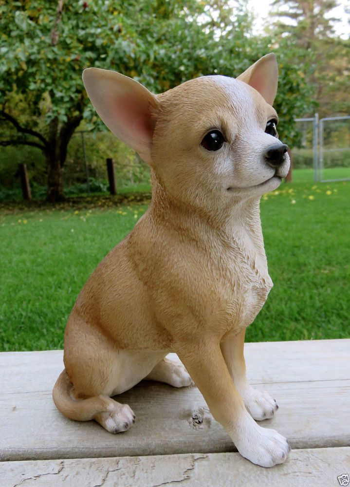 9 In Chihuahua Dog Figurine Resin Animal Indoor Outdoor Statue Pet