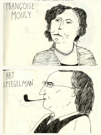 Elizabeth Graeber's drawings of Francoise and Art