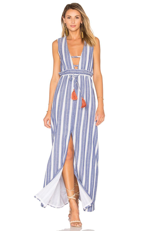 1c96615414e Tularosa Essie Maxi Dress in Indigo Stripe