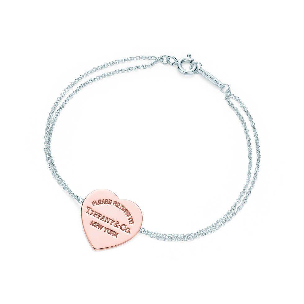 Return To Tiffany Heart Bracelet In Rubedo Metal And Sterling Silver Medium Co
