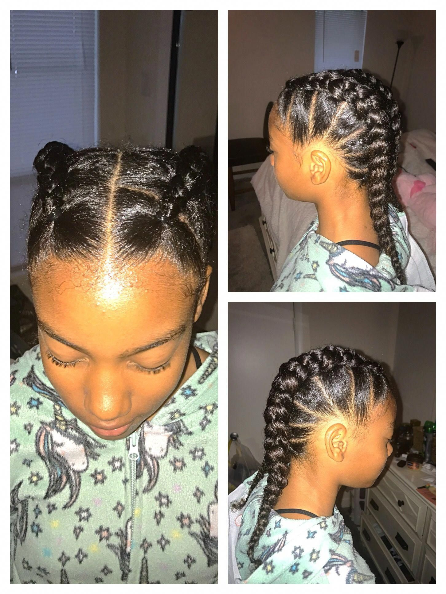 Braid Hairstyles For Black Women Children Littlegirlhairdos In 2020 Girls Hairstyles Braids Baby Girl Hairstyles Hair Styles