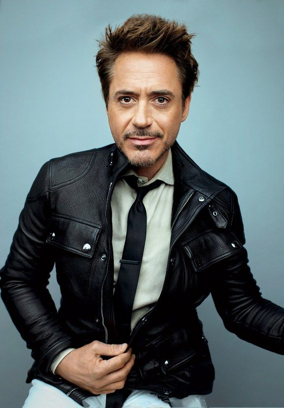 78d1319e4afc A badass leather utility jacket and all white underneath.  RDJ ❤  Ironman