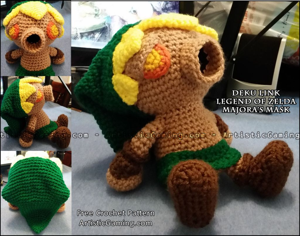 Legend of Zelda Deku Link - Free Crochet Pattern plus video from ...