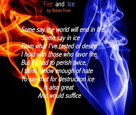 fire and ice by robert frost poem analysis