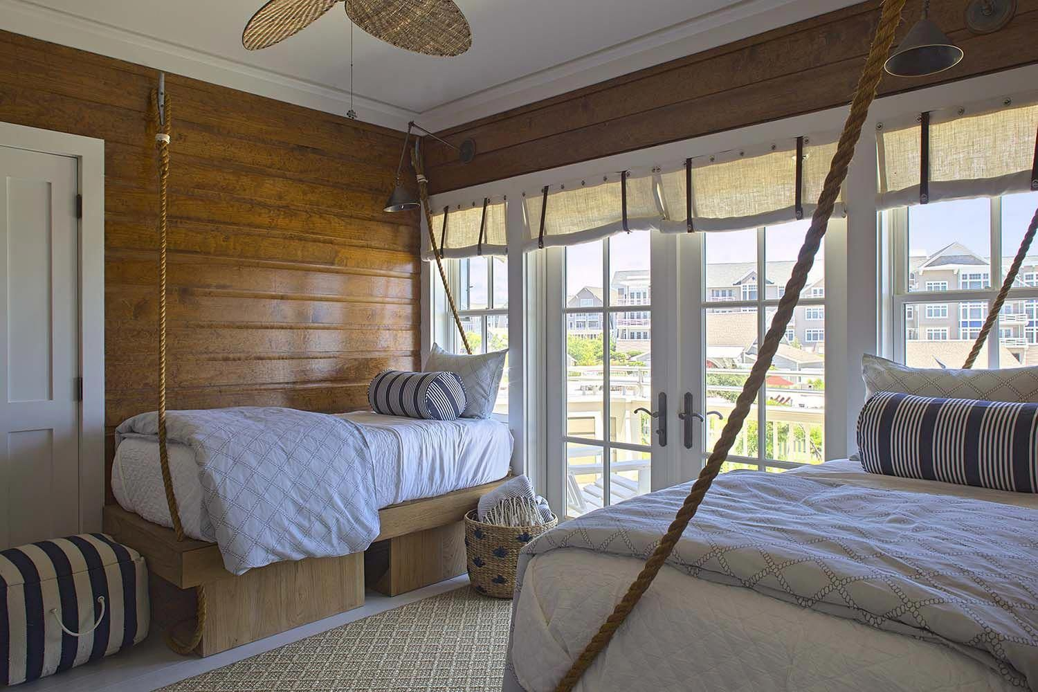 Bed and window placement  breezy seaside home makeover nestled on floridaus emerald coast