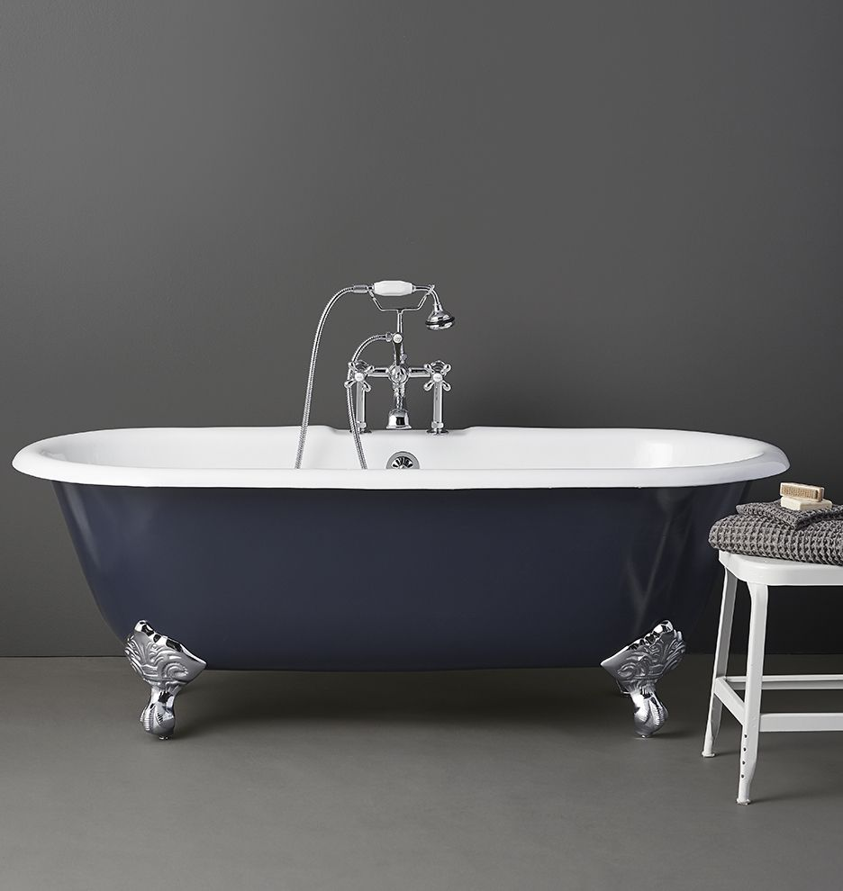 Bathroom Painting Clawfoot Tub Design Ideas I Blue Clawfoot Tub