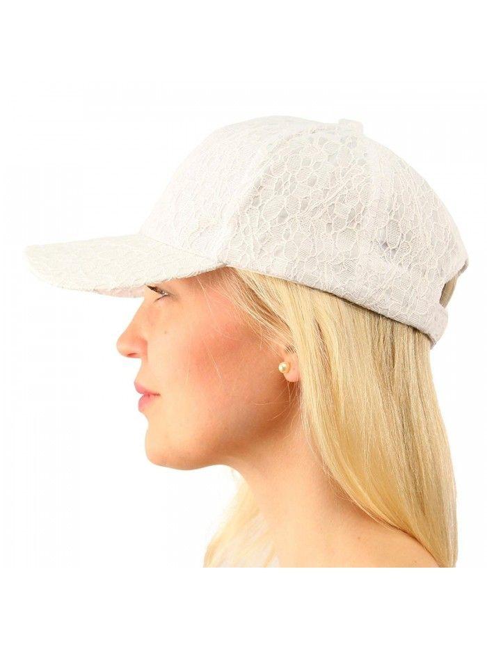 Everyday Lace Light Plain Blank Baseball Sun Visor Solid Ball Cap Dad Hat -  White - CC17Z2ECU8N - Hats   Caps 8ce022d4aa