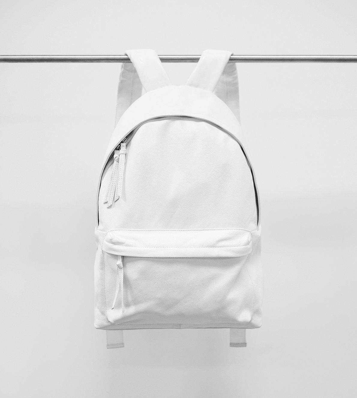 Pb 0110 Matte White Small Leather Backpack found on Polyvore | Top ...