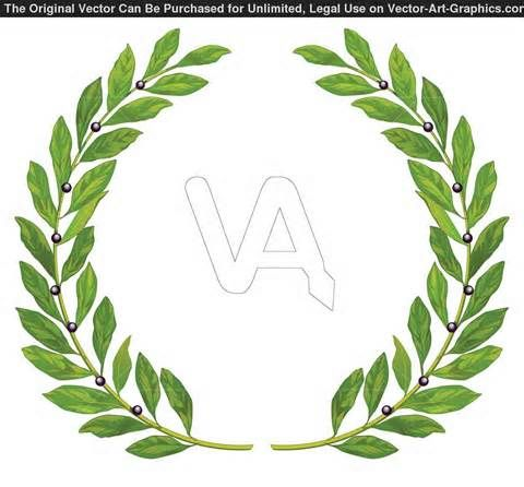 Roman Laurel Wreath Clip Art
