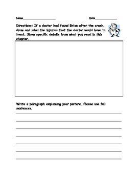 Drawing Activities For Hatchet Drawing Activities Teaching Middle School Activities