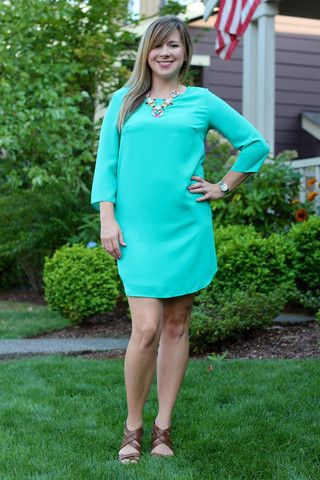 Solid Color Jade Shift Dress – The Dressing Vroom