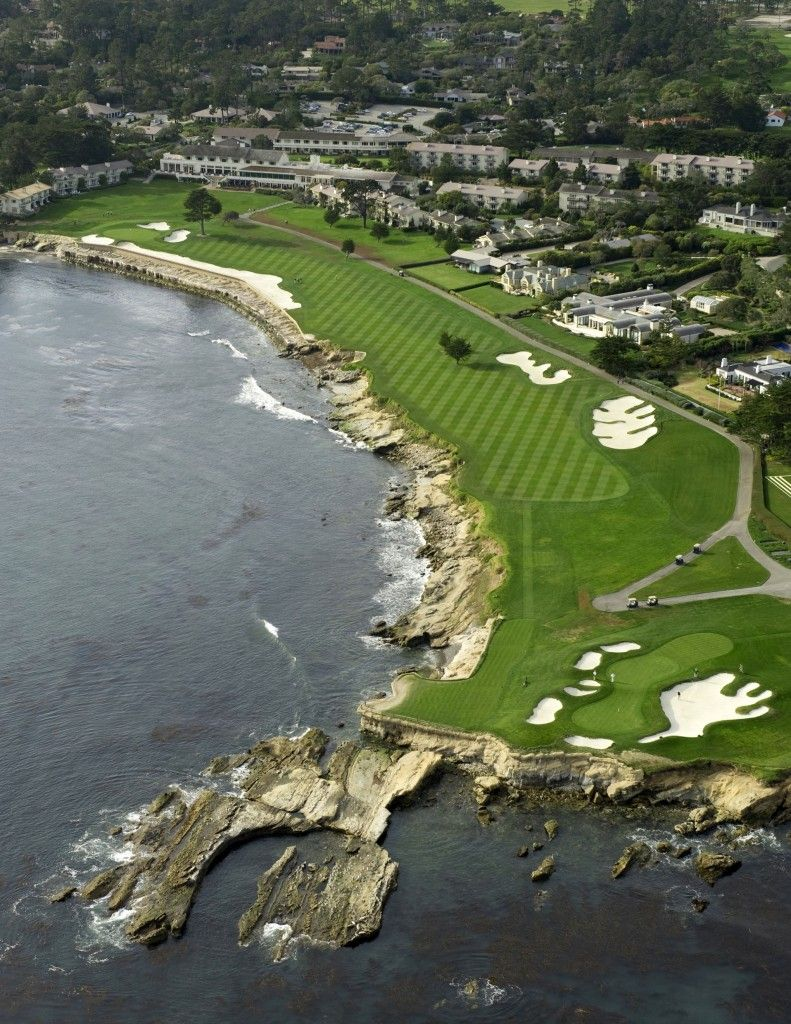 Hole 18 Pebble Beach Golf Links Ca 543 Yards Par 5