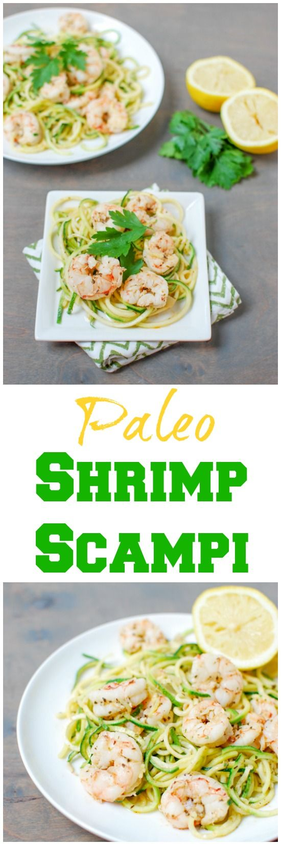 This Paleo Shrimp Scampi is made with just five ingredient (plus herbs) and is ready in 15 minutes. Light and refreshing, it's the perfect summer dinner!