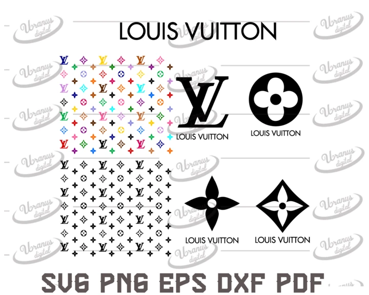 Bundle Brand Logo Svg Pattern Cricut File Silhouette Cameo Svg Png Eps Dxf In 2020 Louis Vuitton Pattern Logo Silhouette Louis Vuitton