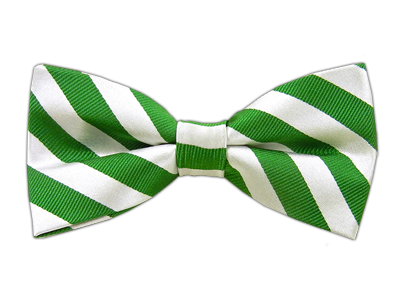 Twill White Stripe Kelly Green Bow Ties Twill White Stripe Kelly Green Bow Ties White Bow Tie Clip On Bow Ties Green Bow Tie
