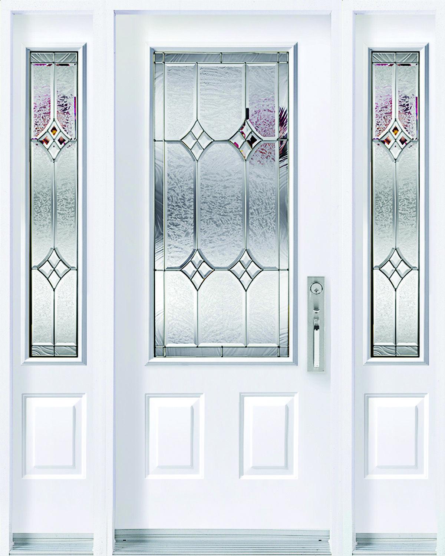 Windsor | Caming Zinc | Slab 3 Panel | Glass Size 8x48 Sidelite  sc 1 st  Pinterest & Windsor | Caming: Zinc | Slab: 3 Panel | Glass Size: 8x48 Sidelite ...