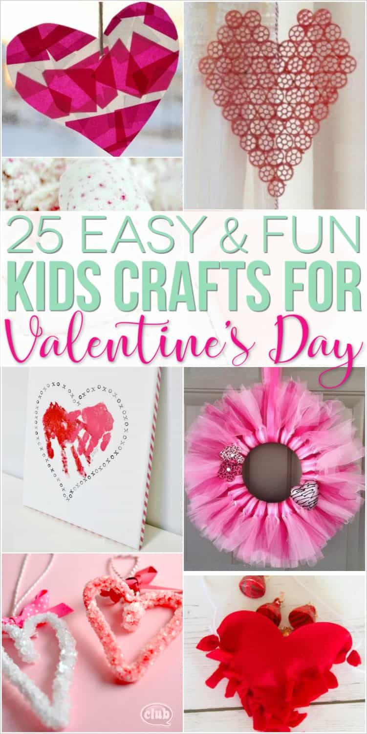 Valentine Crafts for Kids - 25 Easy Art and Craft Projects for All Ages! images