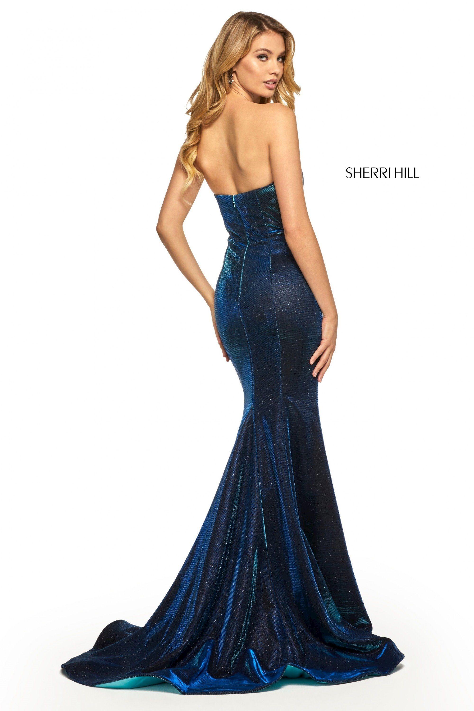 Sherri Hill 52362 Strapless Prom Gown Sherri Hill Dresses Gown For Prom Black Homecoming Dress [ 3000 x 2000 Pixel ]