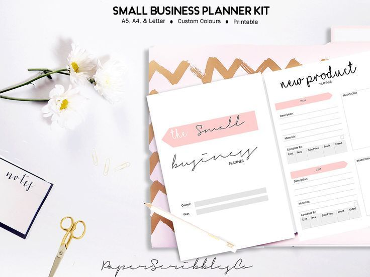 Business Planner Printable, Home Business, Small Business, Etsy
