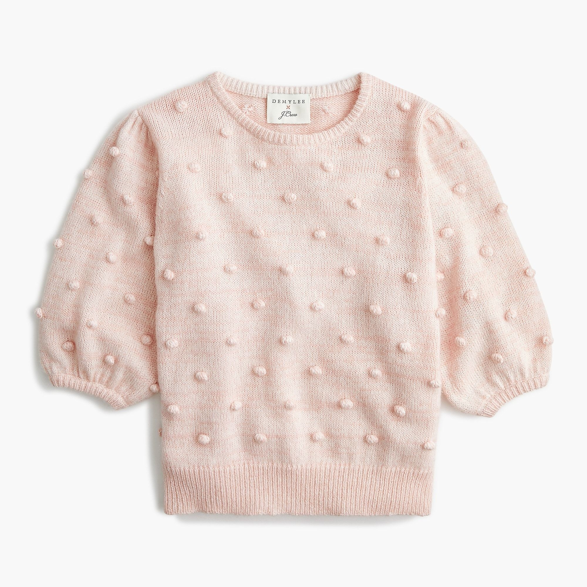 Shop J.Crew for the DEMYLEE® X J.Crew puff sleeve pompom