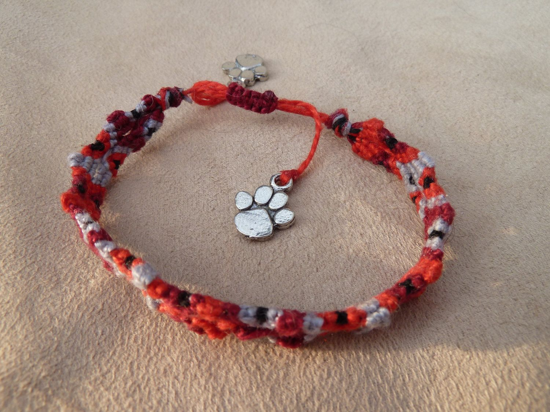 Totem Pole Design Knotted Friendship Bracelet By Pandapassion