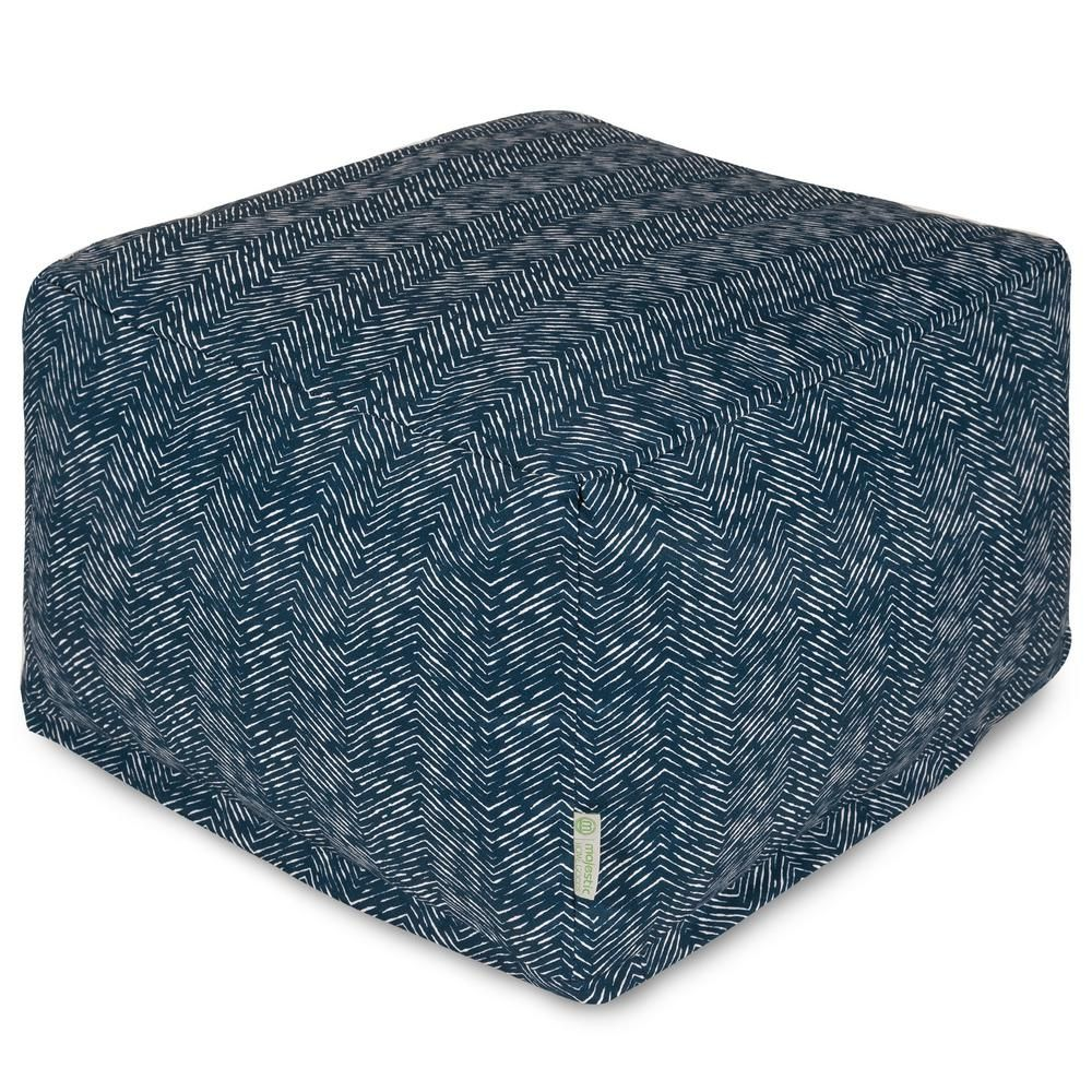 Best Majestic Home Goods Navy South West Indoor Outdoor Ottoman 640 x 480