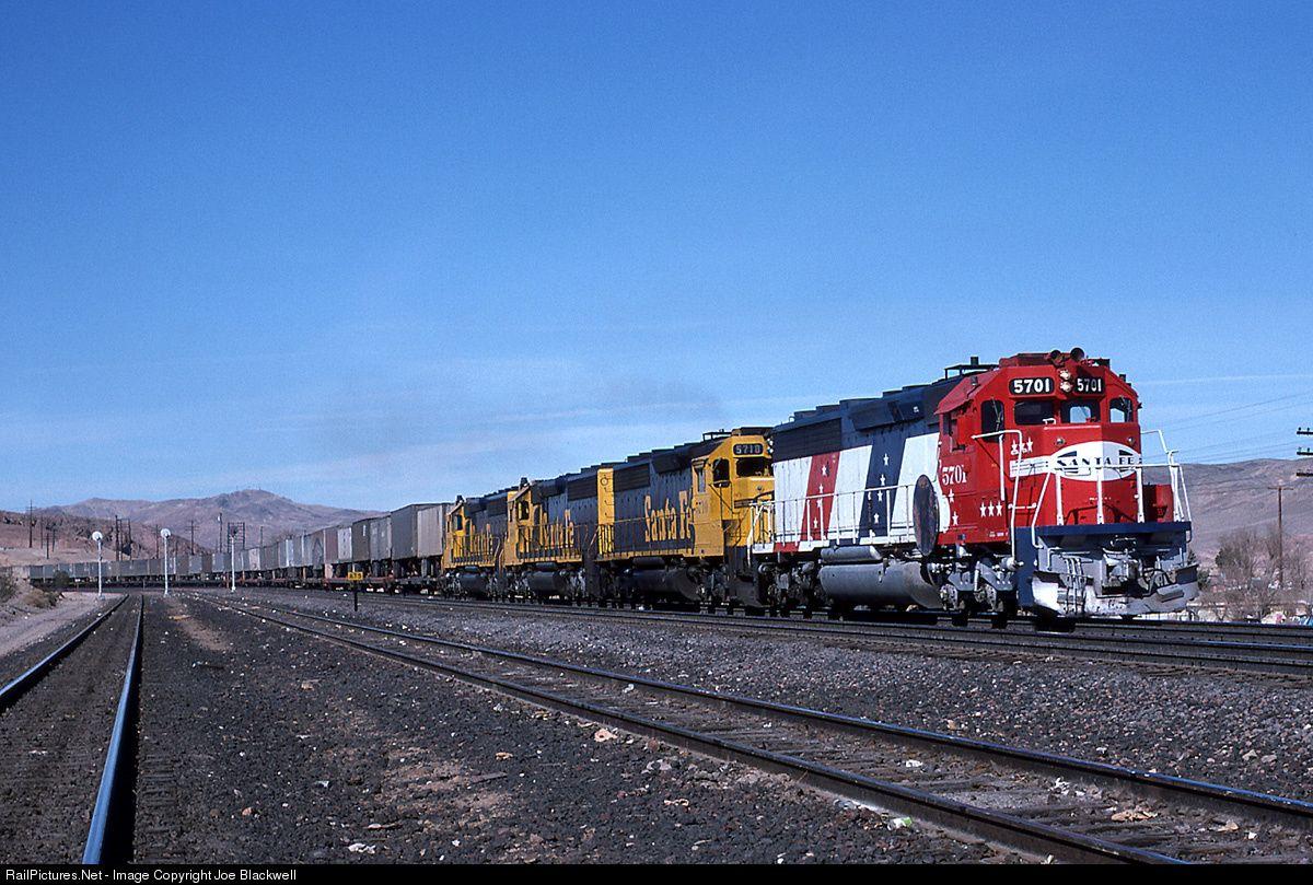 RailPictures.Net Photo: ATSF 5701 Atchison, Topeka & Santa Fe (ATSF) EMD SD45-2 at Barstow, California by Joe Blackwell