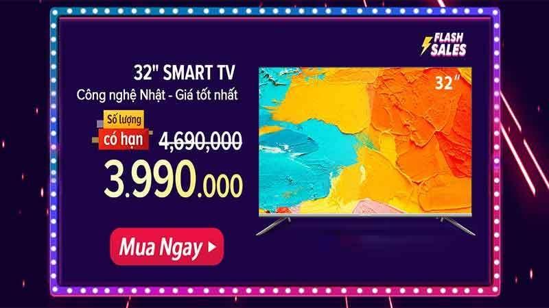 Smart tivi Coocaa 32inch | Mã Giảm Giá | Việt nam