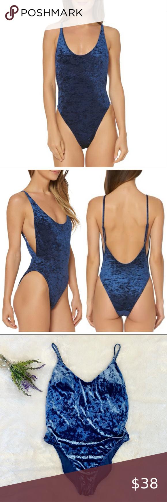 Dolce Vita Blue Velvet One Piece Swimsuit Velvet Swimsuit Fashion One Piece Swimsuit