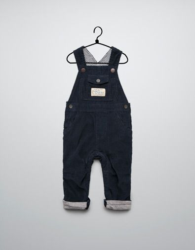 1c1da51d lined needlecord dungarees - Trousers - Baby boy (3-36 months) - Kids - ZARA  United States