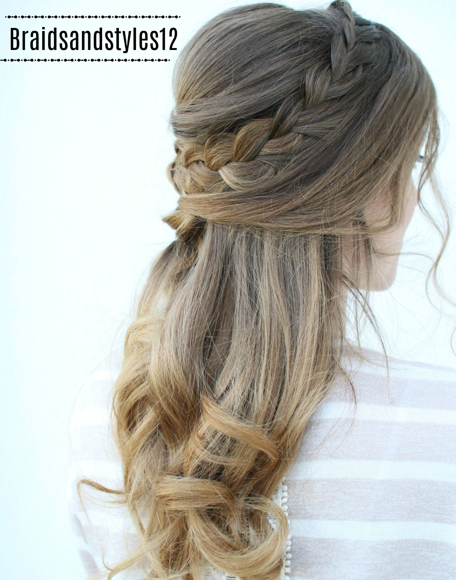 Romantic half up braided hairstyles by braidsandstyles half up