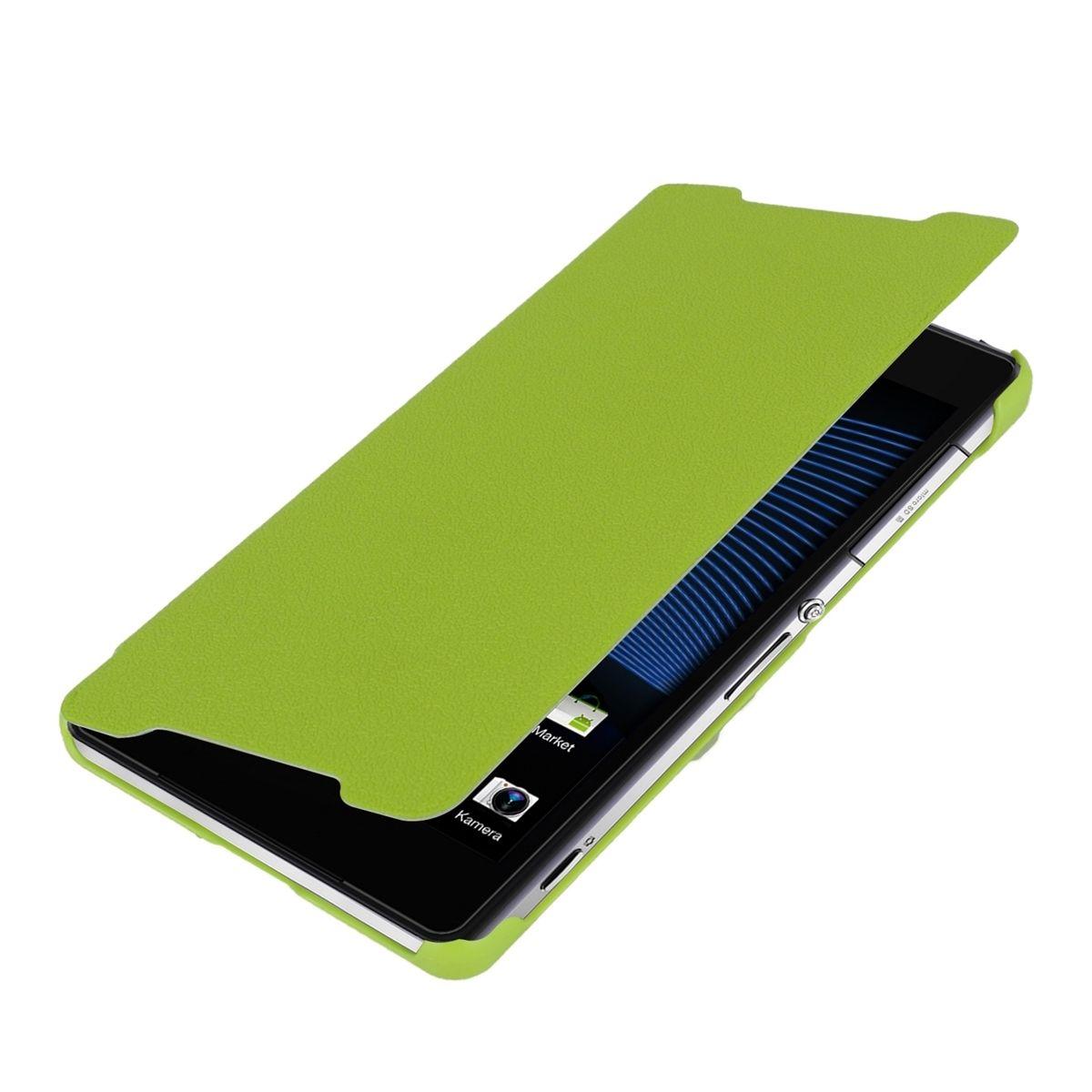 the latest daec2 b30e7 Flip cover for sony xperia z2 green case slim back shell hard mobile ...