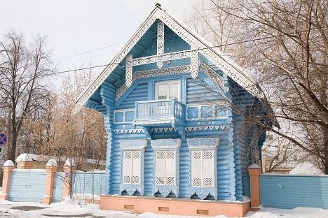 The Wooden Pogodinskaya Hut Is One Of The Examples Of The